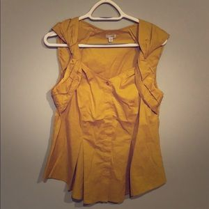 Anthropologie Yellow Tank Size 12 (odille)